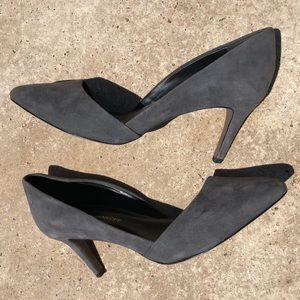 Rebecca Minkoff gray suede leather heels Size 9